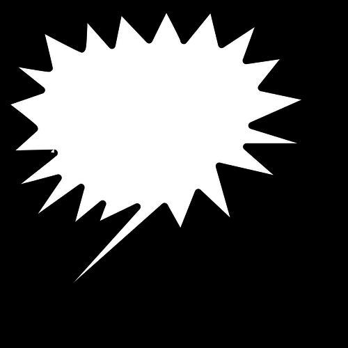 Pratbubblan i stjärnform från vänster vektor ClipArt.