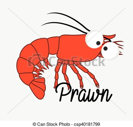 EPS Vectors of Funny Prawn Fish Vector Illustration csp40181799.