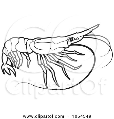 Clipart of a Black and White Hand Holding a Fish.