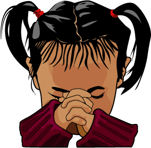 Kneeling To Pray Clipart.