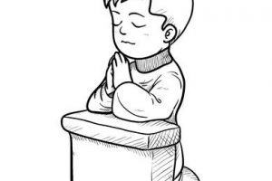 Boy praying clipart black and white » Clipart Portal.