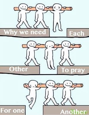 Why we need each other to pray for one another..
