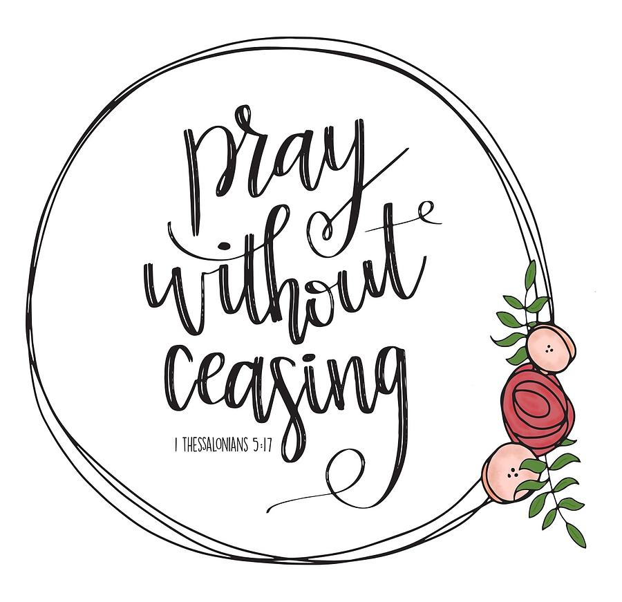 Pray Without Ceasing Wreath.