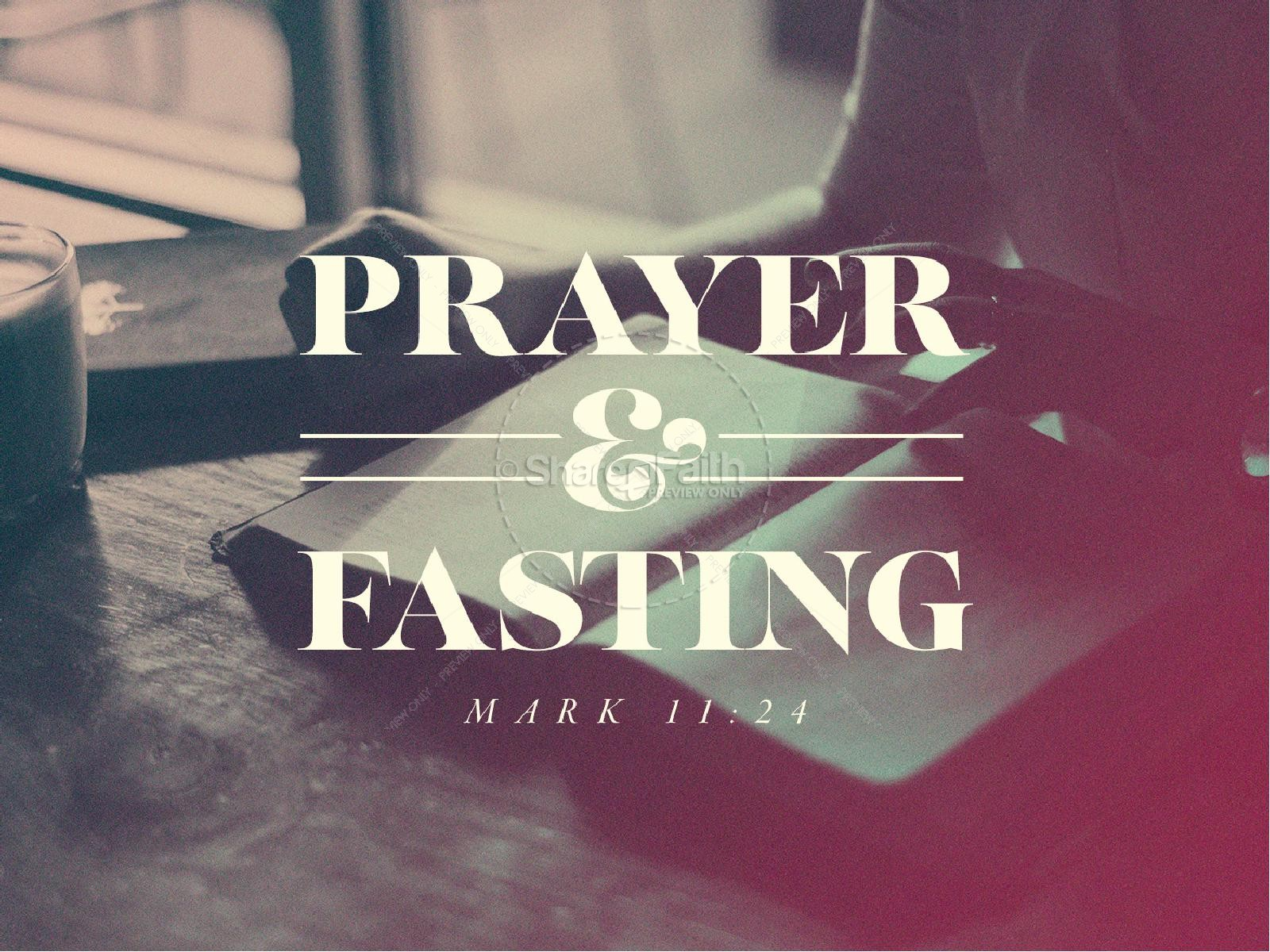 Prayer And Fasting Sermon PowerPoint Template.