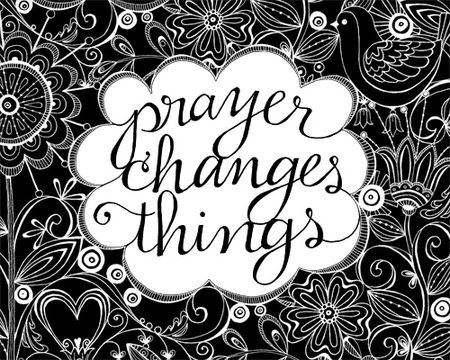 Prayer Changes Things Clipart.