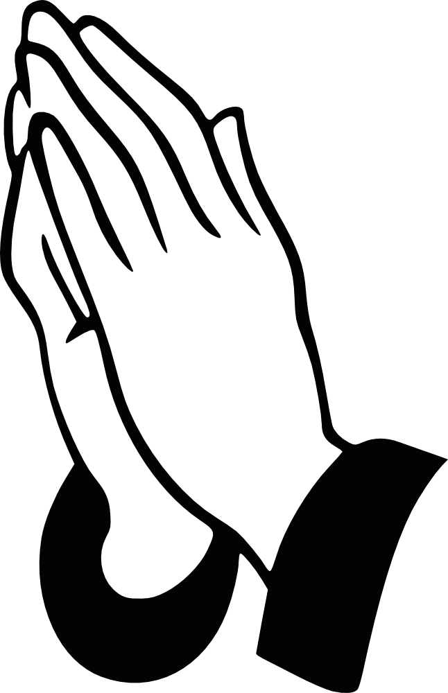 Free Black And White Praying Hands, Download Free Clip Art.