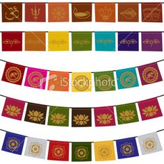 Thai prayer flag symbol clipart.