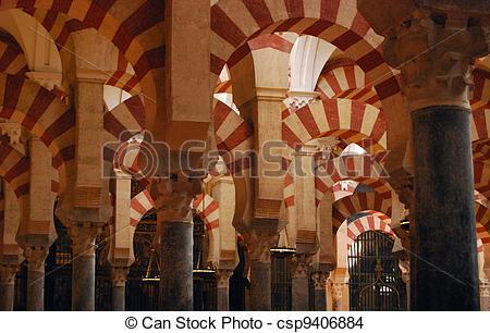 Stock Photo of Prayer hall, Mezquita, Cordoba..