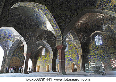 "Stock Photography of ""Prayer hall of Imam Mosque, Isfahan, Isfahan."