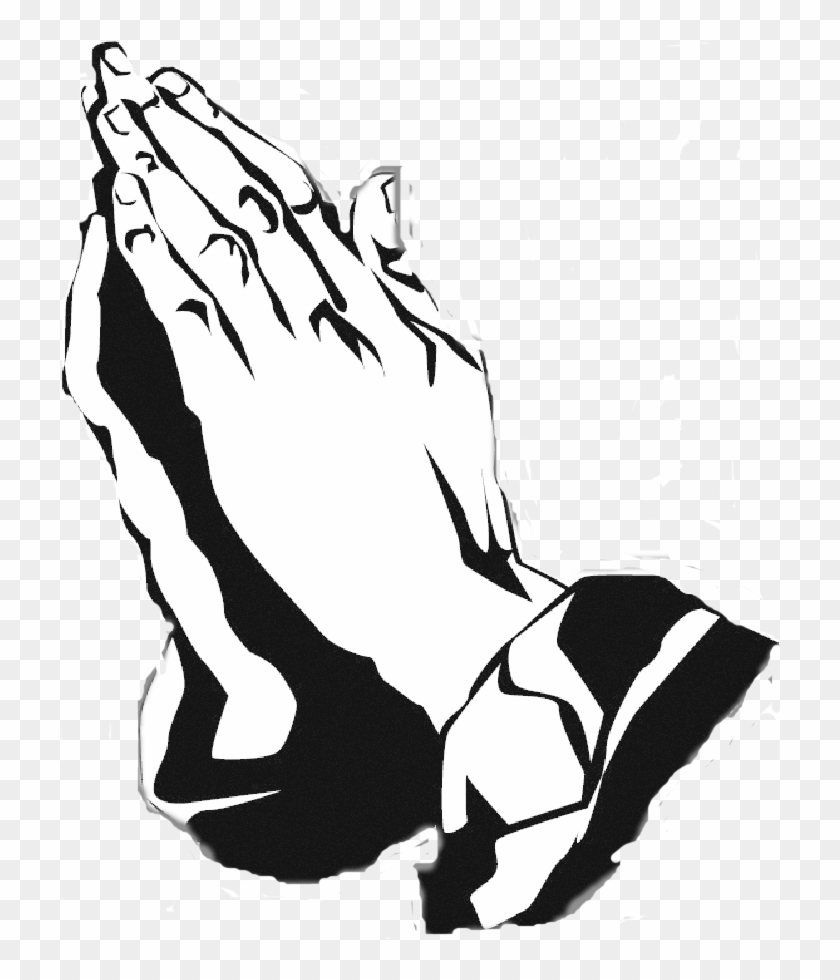 Black And White Praying Hands Free Download Clip Art.