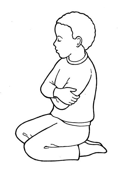 Kneeling in Prayer.