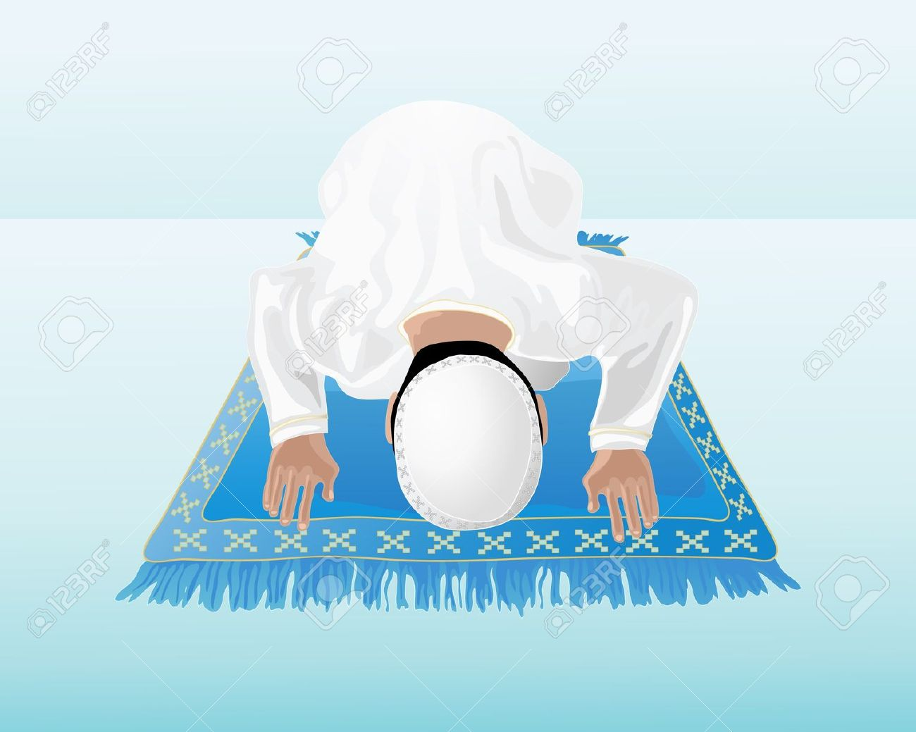 Muslim prayer clipart.