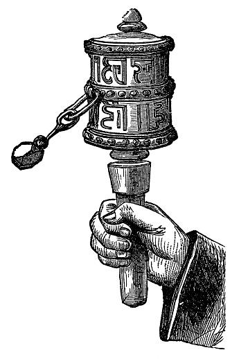 Prayer Wheel Clip Art, Vector Images & Illustrations.