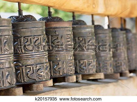 Stock Image of Prayer wheels k20157935.