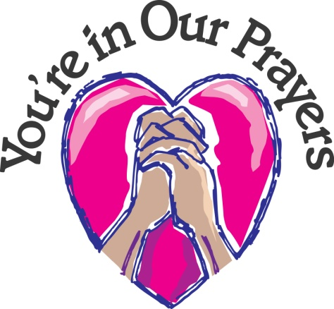In our prayers clipart.