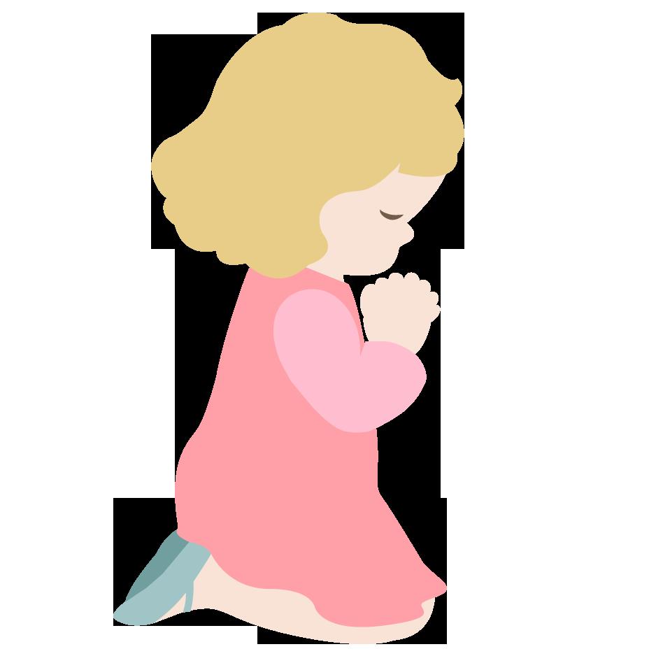 Saying prayers clipart.