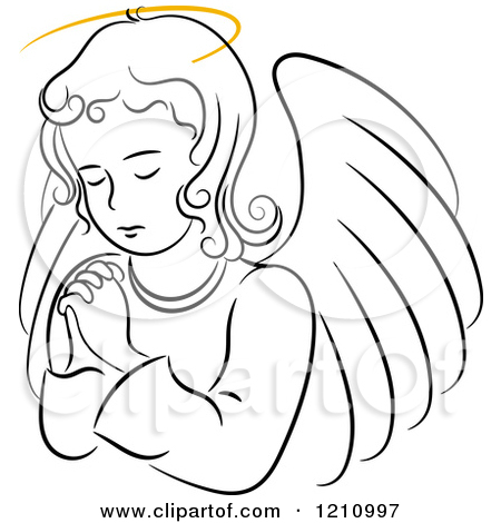 praying angel clipart clipground