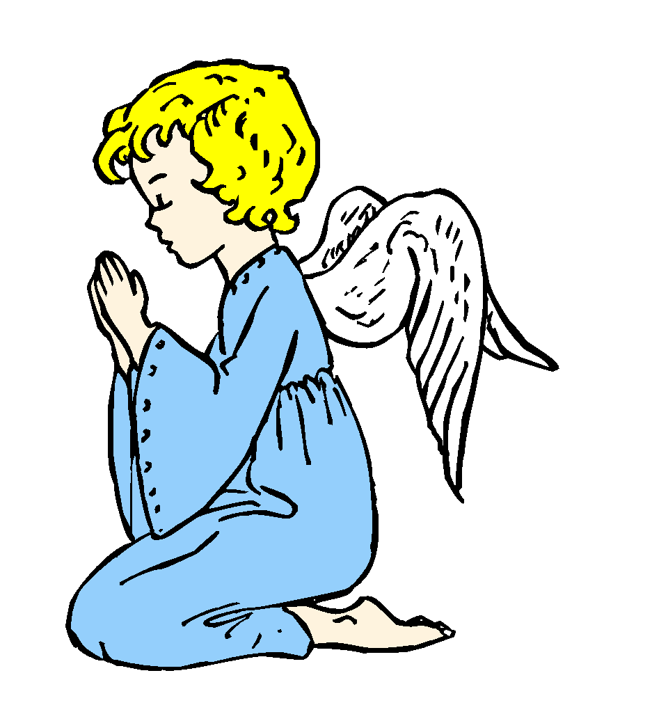 Praying angel clipart.