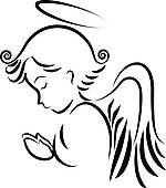 Praying Angels Free Clipart.