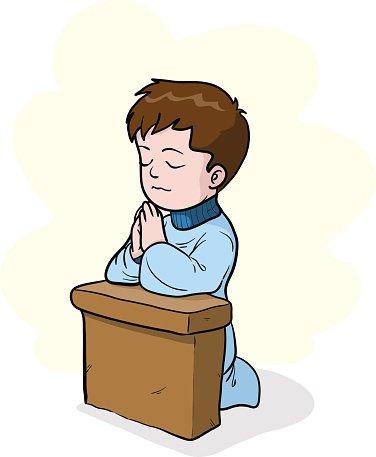 Praying Clipart Image.