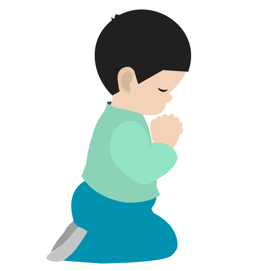 Clipart boy praying.