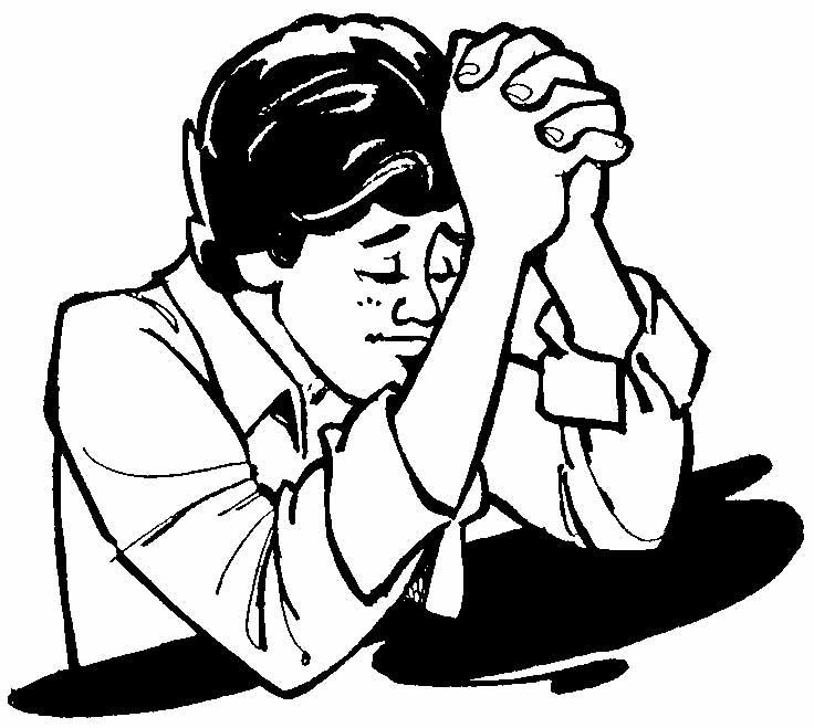 Black Boy Praying Clipart.