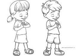 free clip art child praying.
