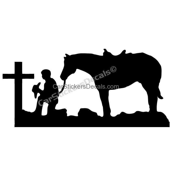 Praying Cowboy Silhouette.