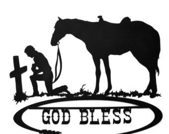 Praying Cowboy Silhouette Free Printable Hands Picture.