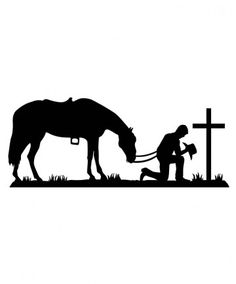 Praying Cowboy Silhouette.