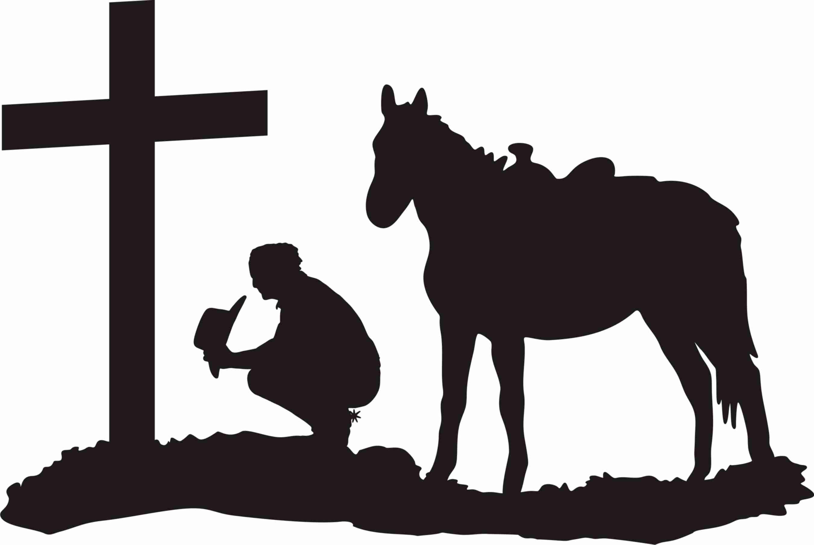 Free Praying Cowgirl Silhouette, Download Free Clip Art.