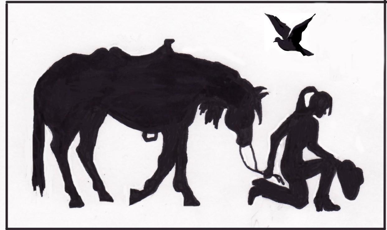 Praying Cowboy Silhouette Clip Art (32 ).