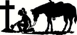Download praying cowboy and cowgirl clipart Cowboy Prayer.