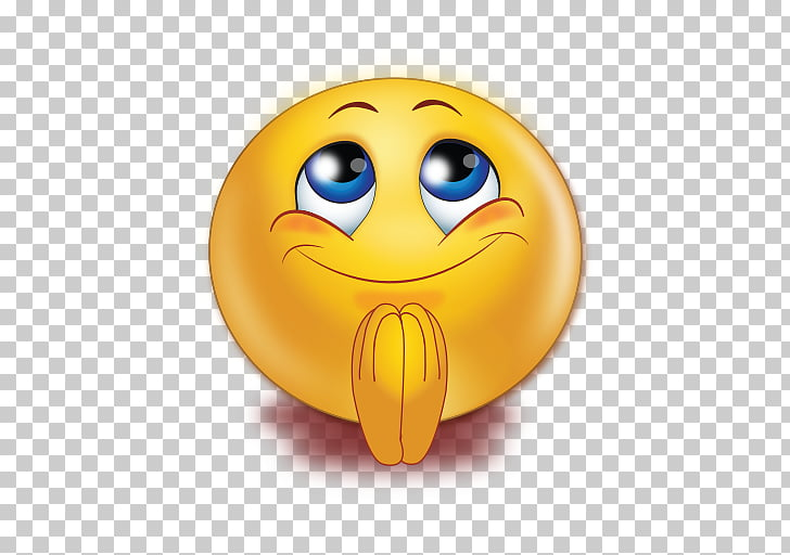 Smiley Praying Hands Emoticon Emoji Prayer, smiley PNG.