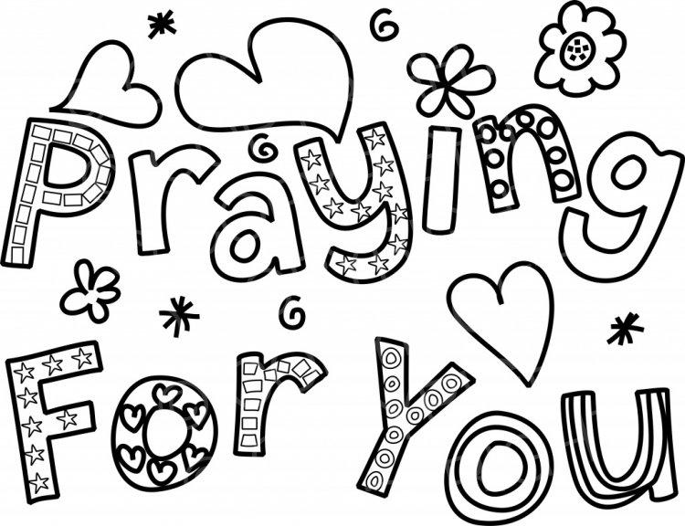 Praying for You Line Art.