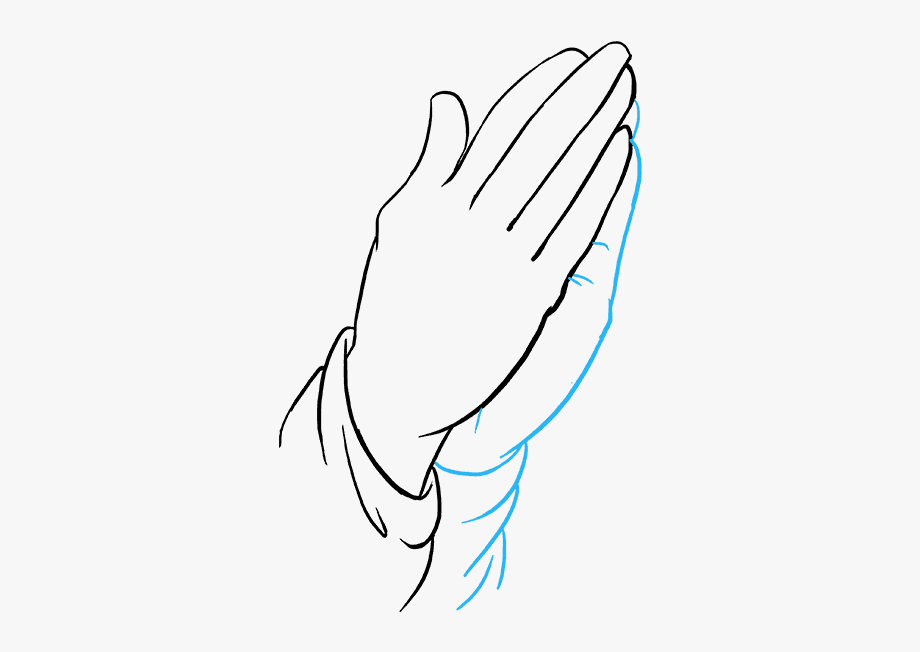 How To Draw Praying Hands.