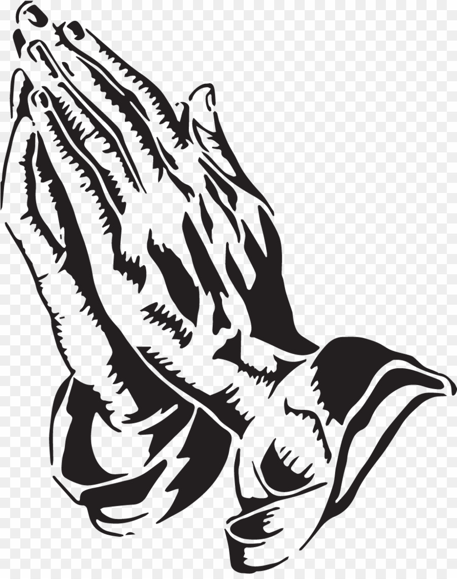 Praying Hands PNG Drawing Clipart download.