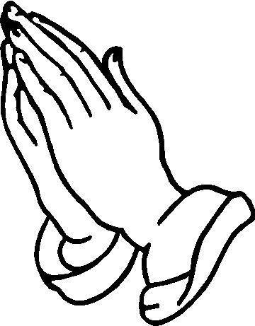 Beautiful Praying Hands Tattoo Design Religious Clip Art Picture.
