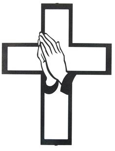 Cross With Praying Hands Clipart#2015948.
