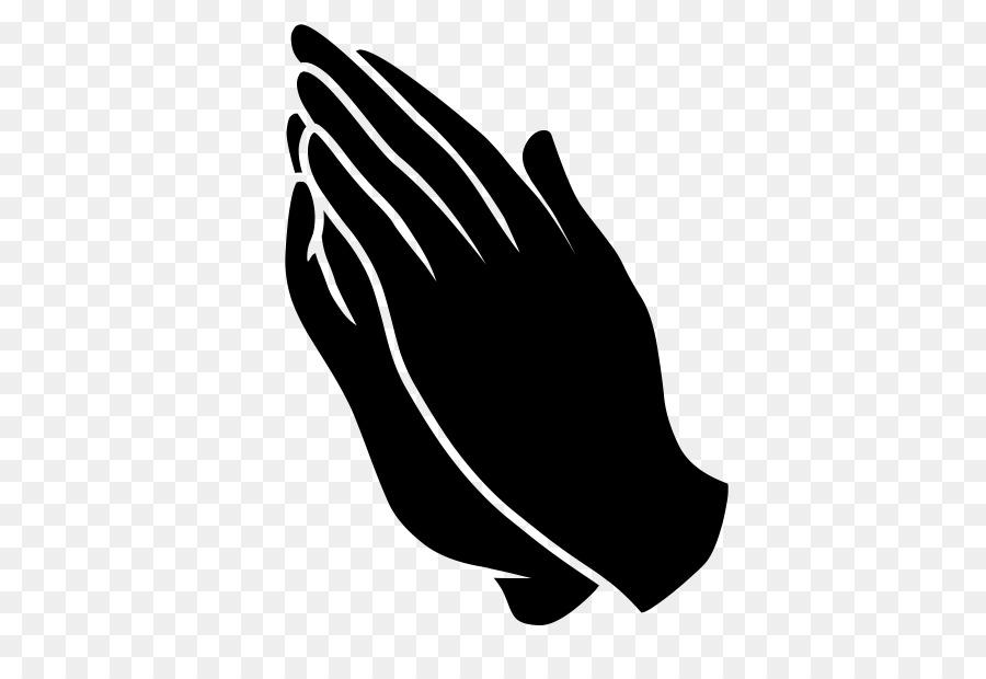 Praying Hands Kneeling Silhouette Clip art.