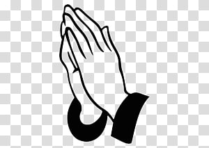 Praying hands illustration, Praying Hands Prayer Silhouette.