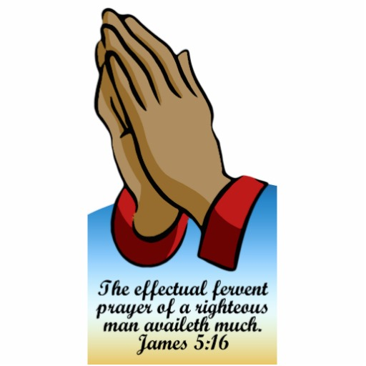 Praying hands with bible clipart.