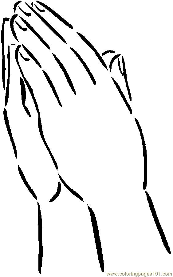 praying hands with color clipart