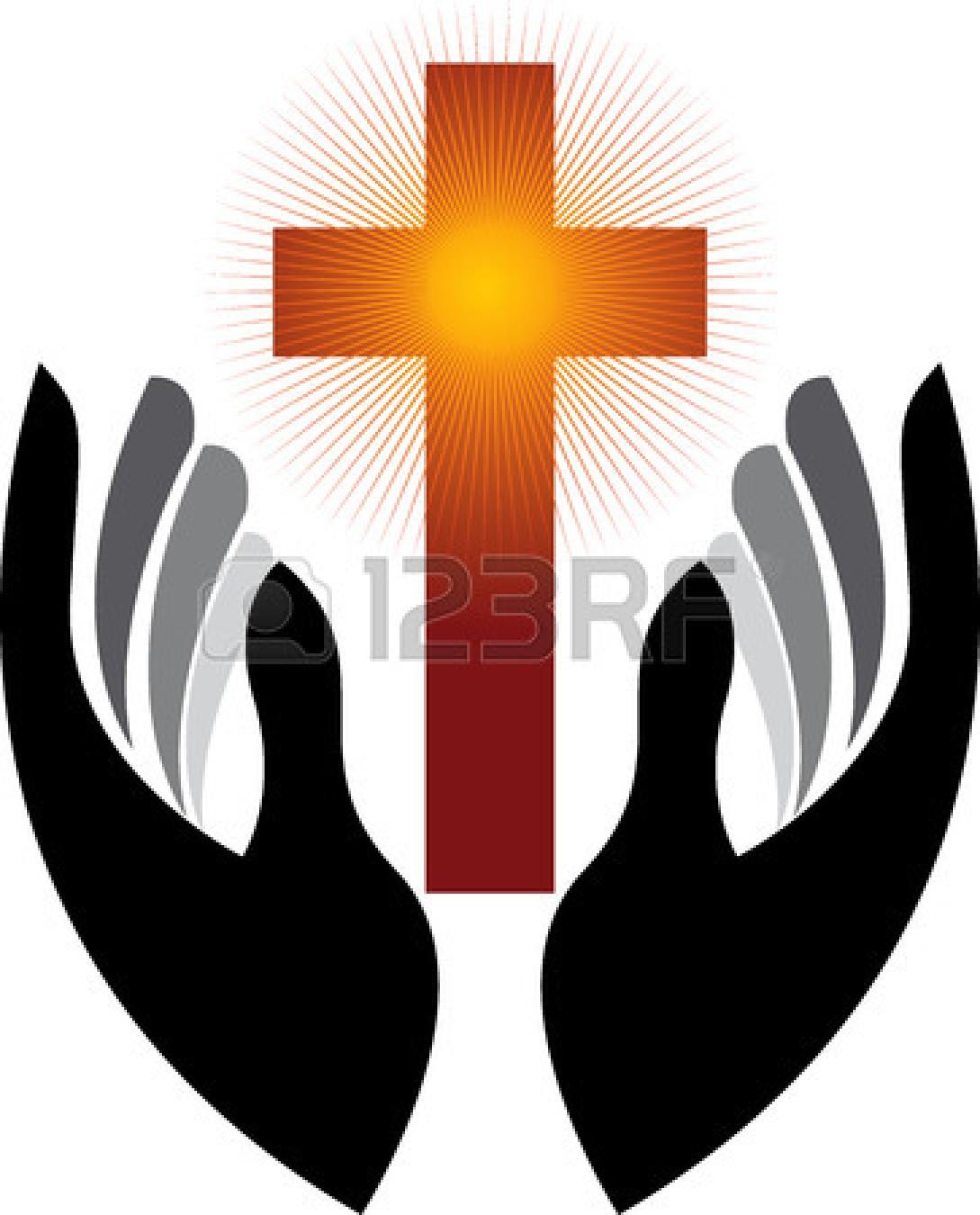 Open Praying Hands Clipart.