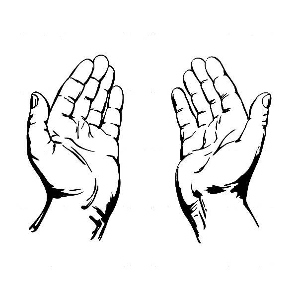 Praying Hands Coloring Page.