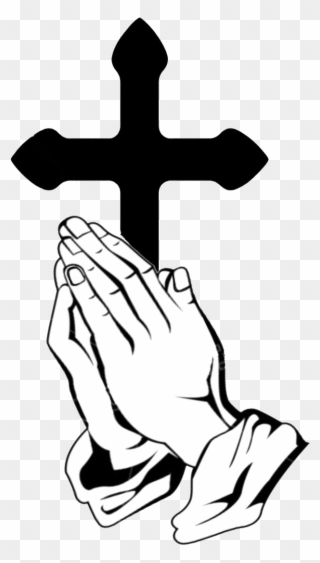 Free PNG Praying Hands With Cross Clip Art Download.