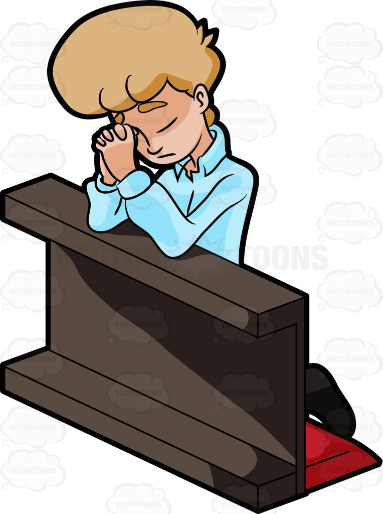 Praying In Church Clipart.
