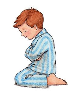 lds clipart child praying.