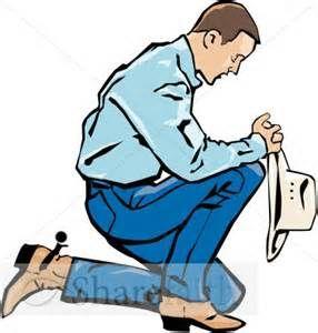Man On His Knees Praying Clip Art.