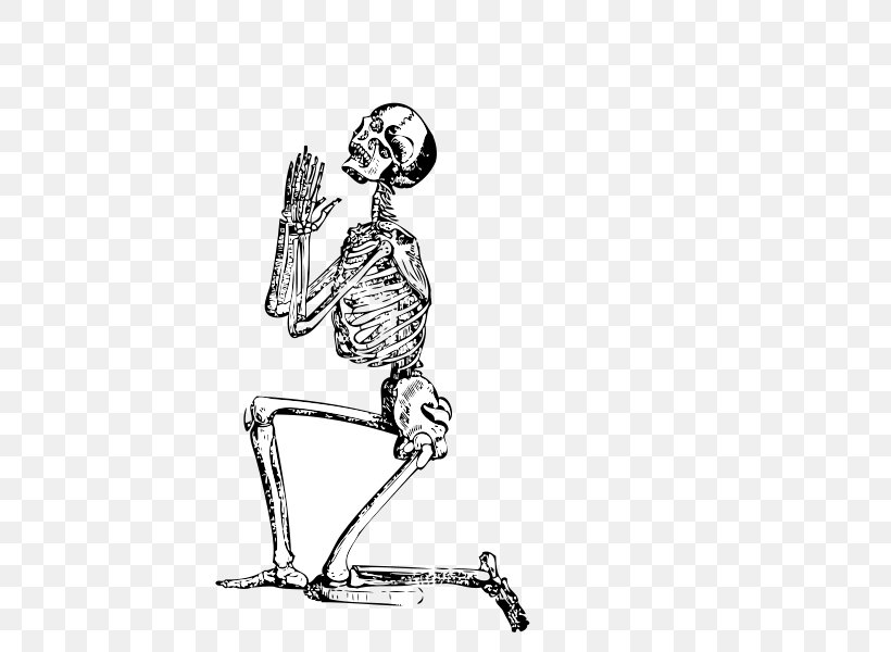 Human Skeleton Prayer Clip Art, PNG, 800x600px, Praying.
